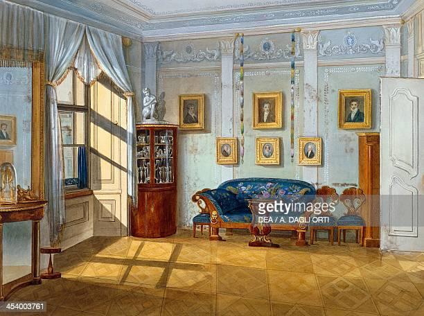 Biedermeier style parlour ca 1830 watercolour Austria 19th century Vienna Historisches Museum Der Stadt Wien