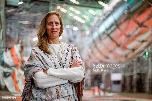 ISLAND SYDNEY NSW AUSTRALIA Biennale of Sydney Artistic Director Stephanie Rosenthal poses in the Turbine Hall during the media preview for Biennale...