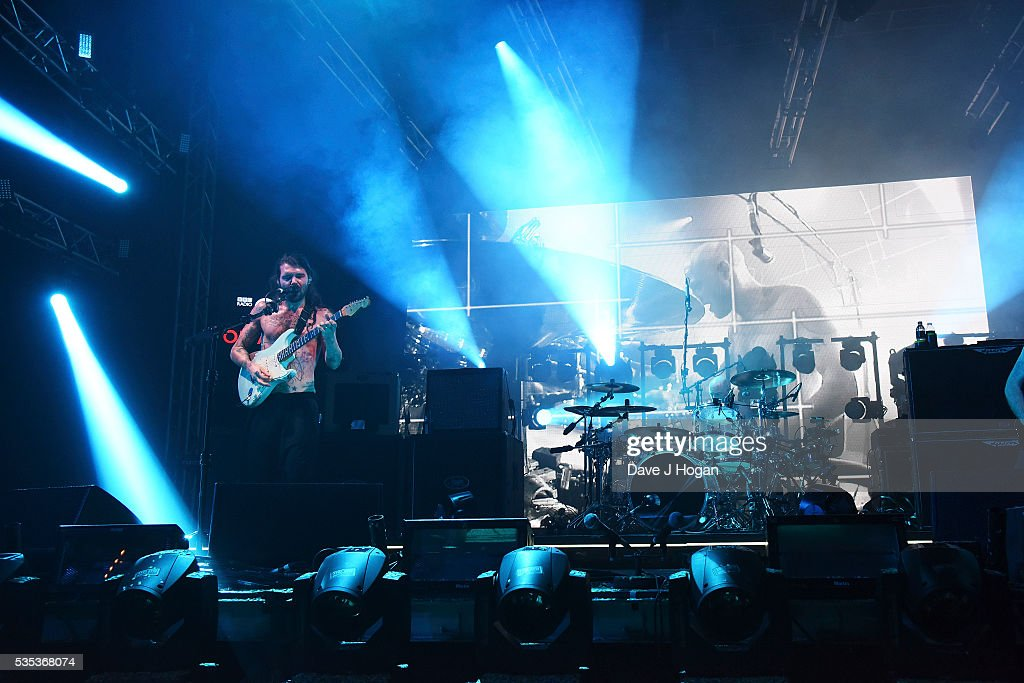 Biffy Clyro performs during day 2 of BBC Radio 1's Big Weekend at Powderham Castle on May 29, 2016 in Exeter, England.