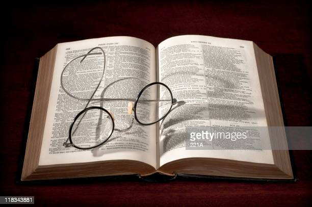 Bifocals rested on King Henry VI book