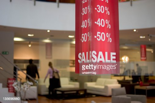 Big 30 through 50 percent off sale at a department store