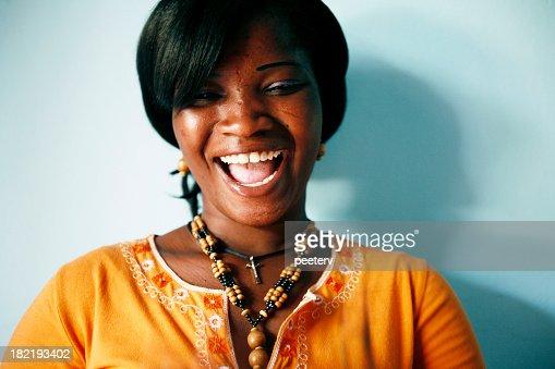 big african smile
