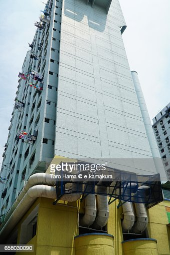 Big air duct under the building in Singapore : ストックフォト