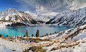 Big Almaty Lake in ZaIli Alatau mountain chain near Almaty, Kazakhstan.