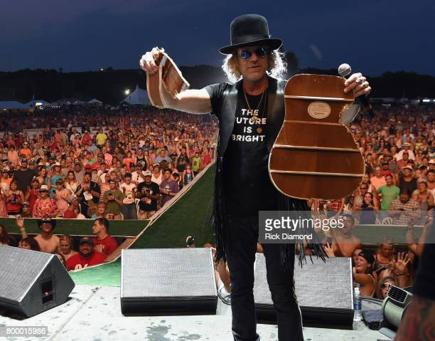 Big and Rich perform Big Kenny during Kicker Country Stampede Day 1 at Tuttle Creek State Park on June 22 2017 in Manhattan Kansas