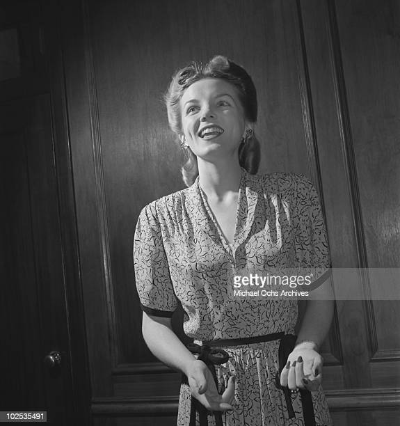 Big Band singer with the Jimmy Dorsey Orchestra Helen O'Connell poses for a portrait circa 1942