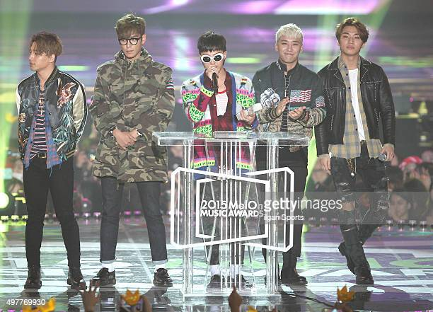 Big Bang attend the 2015 Melon Music Awards at Olympic Park on November 7 2015 in Seoul South Korea