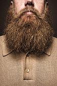 Big Bearded Man Portrait