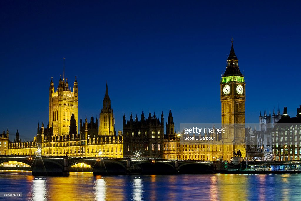 Big Ben and Britain's Houses Of Parliament. : Stock Photo