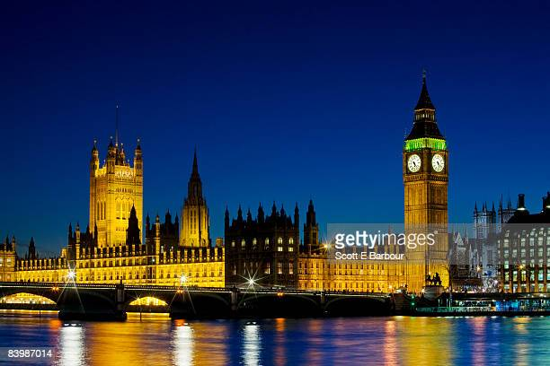 Big Ben and Britain's Houses Of Parliament.
