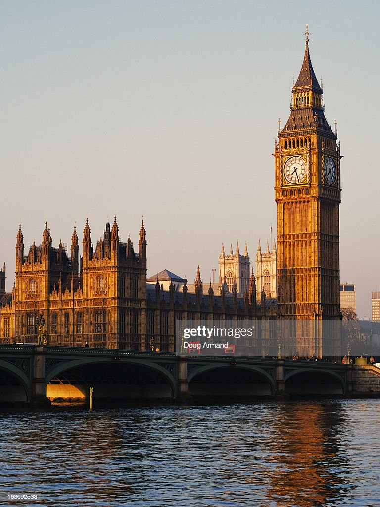 Big Ben and the Houses of Parliament at sunrise : Stock Photo
