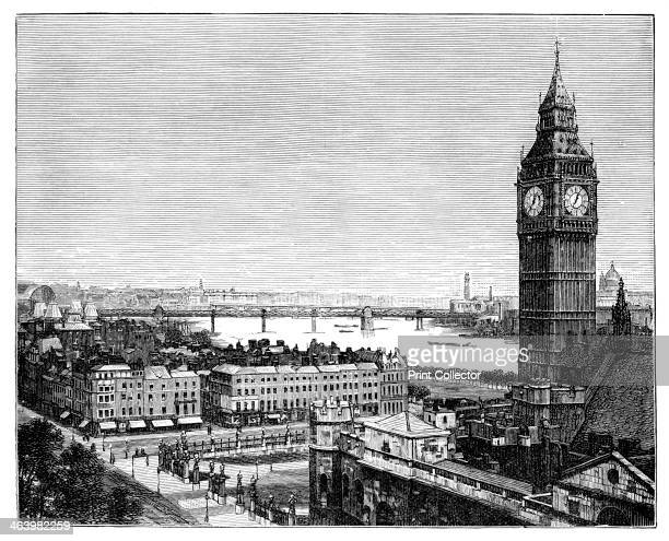 Big Ben and the Houses of Parliament Westminster London 1870 'Big Ben' is actually the bell inside St Stephen's Tower but has come to signify the...