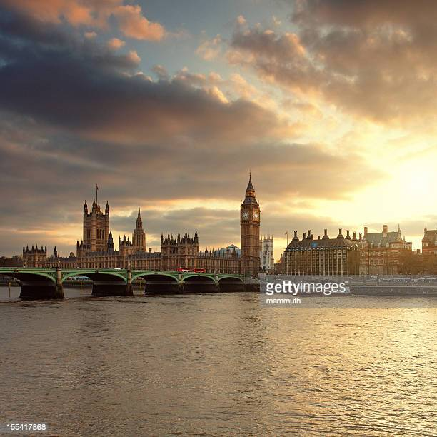 Big Ben and the Parliament in London at sunset