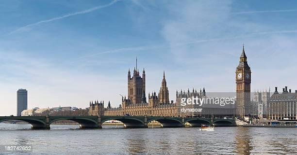Big Ben and Westminster Bridge panorama, London