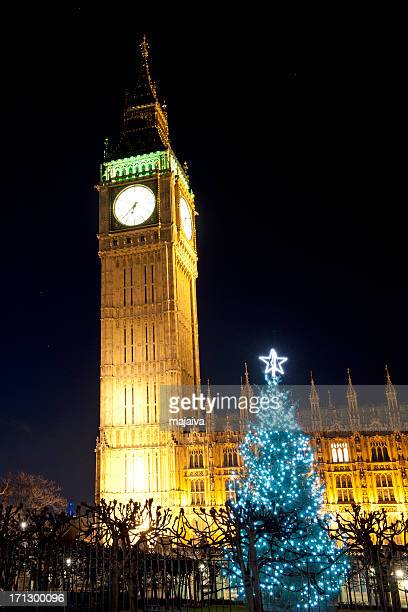 Big Ben and Westminster Palace in London x-mass night shoot