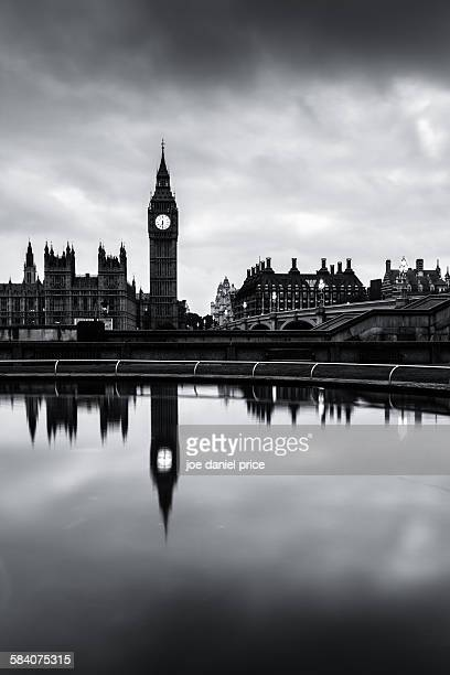 Big Ben, Black and White, London, England