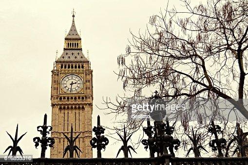 Big Ben Clock Tower of London city : Stock Photo