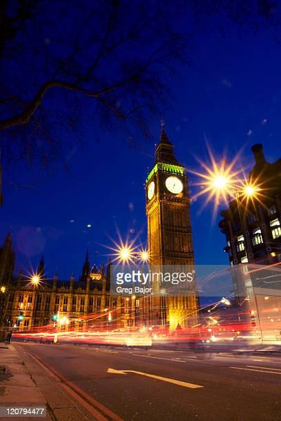 Big Ben illuminated at night