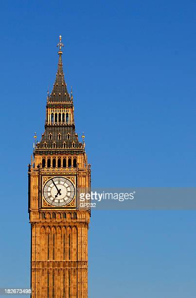 Big Ben on blue