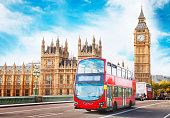 Doubledecker bus and Houses Of Parliament in London. See my other photos from London:  http://www.oc-photo.net/FTP/icons/london.jpg