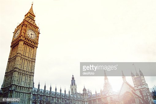 Big Ben Tower in Westminster of London city : Stock Photo