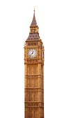 Big Ben Tower in London, isolated on white. See my other UK photos:  http://www.oc-photo.net/FTP/icons/london.jpg