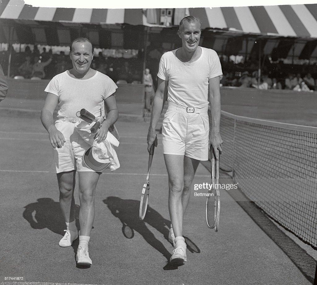 Bill Tilden and Bill Goldwin Walking