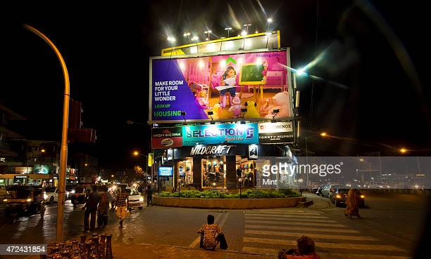 Big billboard advertisement of realty portal housingcom at SV Road Bandra on April 4 2015 in Mumbai India