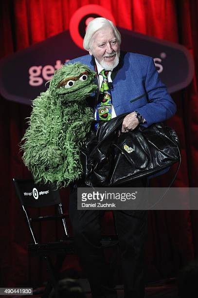 Big Bird Oscar the Grouch of Sesame Street's Caroll Spinney speaks onstage at the Enduring Stories A Bird's Eye View panel presented by DigitasLB...