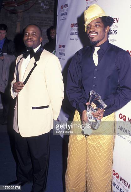 Big Boi and Andre 3000 of Outkast attend Seventh Annual GQ Men of the Year Awards on October 16 2002 at the Manhattan Center in New York City
