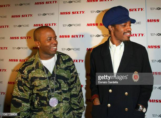 Big Boi and Andre 3000 of OutKast during Miss Sixty Energie Los Angeles Store Opening Event Hosted by OutKastInside And After Party at Miss Sixty...