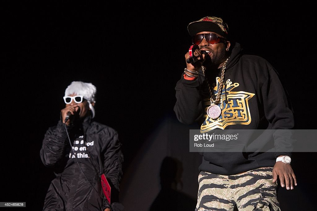 Big Boi and Andre 3000 of Outkast perform at Pemberton Music Festival on July 20, 2014 in Pemberton, Canada.