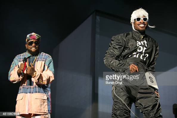 Big Boi and Andre 3000 of Outkast perform on stage at Randall's Island on June 6 2014 in New York City