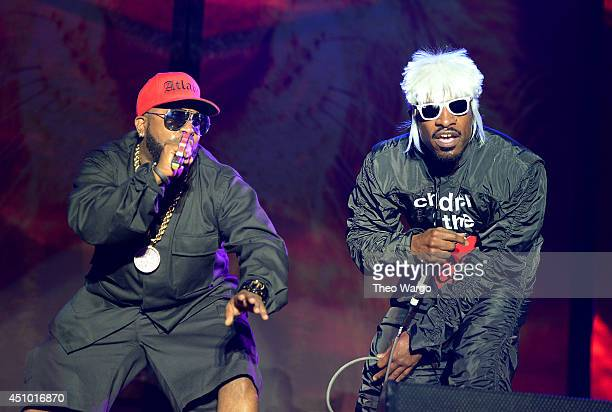 Big Boi and Andre 3000 of Outkast perform onstage during day 3 of the Firefly Music Festival on June 21 2014 in Dover Delaware