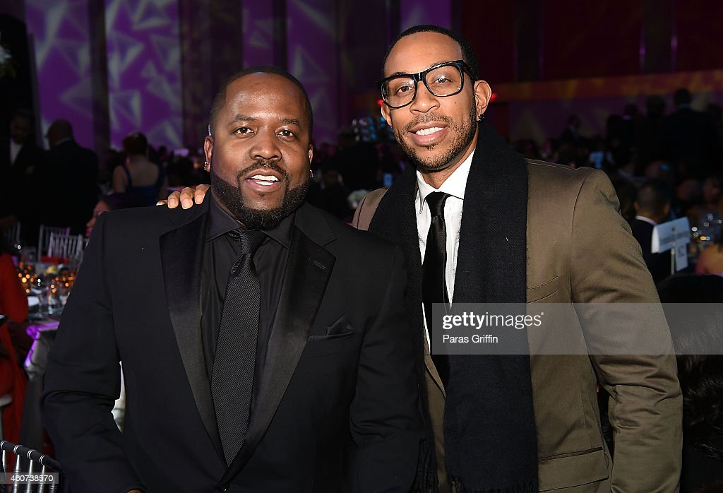 Big Boi and Chris 'Ludacris' Bridges attend the 31st Annual UNCF Mayor's Masked Ball at Marriott Marquis Hotel on December 20 2014 in Atlanta Georgia