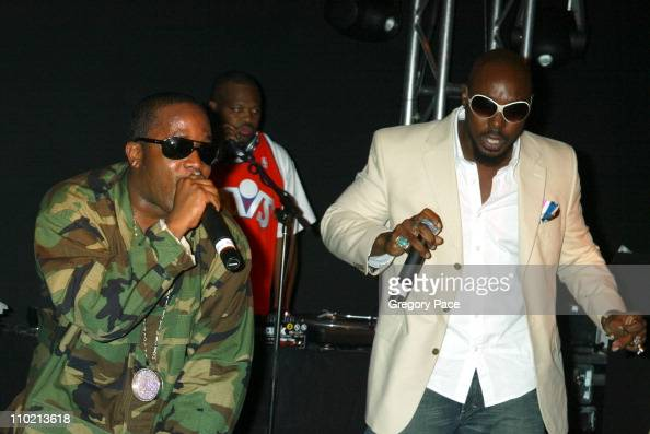 Big Boi and Sleepy Brown of OutKast during Calvin Klein Launch Party for 'Eternity Moment' Fragrance Inside Party at Hotel Gansevoort Rooftop in New...
