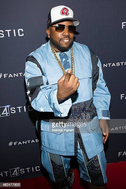 Big Boi attends 'Fantastic Four' Atlanta VIP Screening at Cinebistro on July 30 2015 in Atlanta Georgia