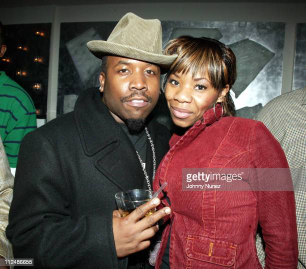 Big Boi of OutKast and Khadijah during Chuck Bones Birthday Party March 15 2005 at Duvet in New York City New York United States