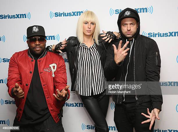 Big Boi Sarah Barthel and Josh Carter of Big Grams visit at SiriusXM Studios on September 25 2015 in New York City