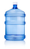 Big bottle of drinking water isolated on a white background