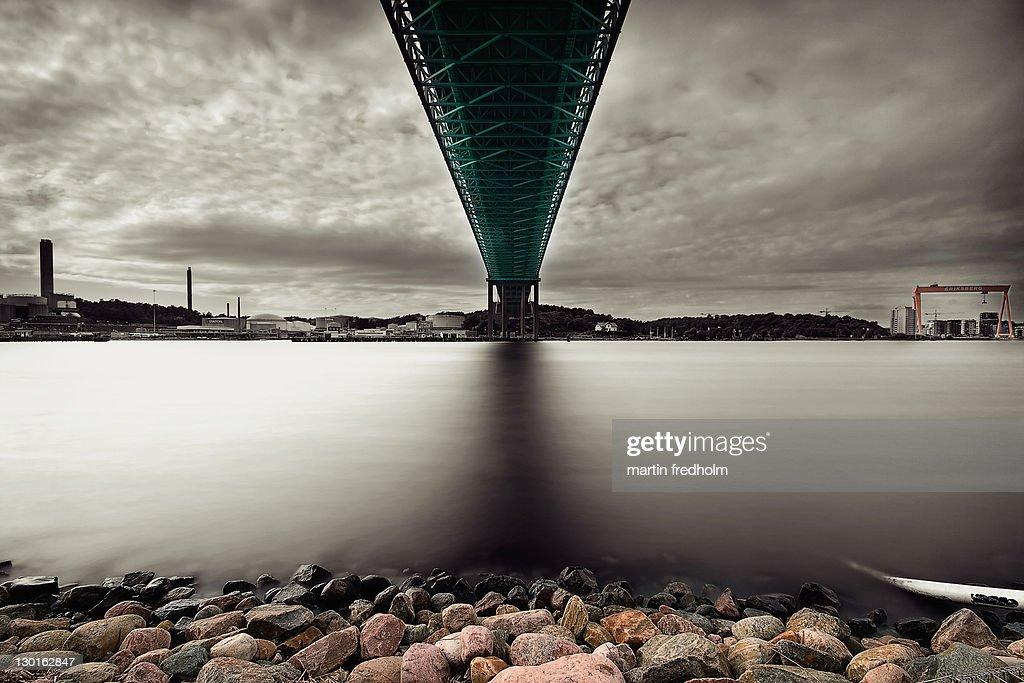Big bridge with cloudy sky : Stock Photo