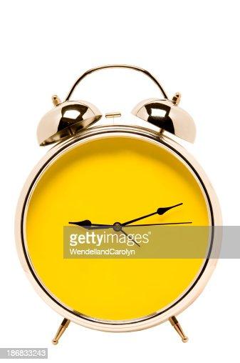 Big Bright Yellow Alarm Clock