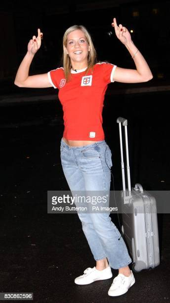 Big Brother 3 contestant Kate entering the Big Brother house in Elstree Hertfordshire * Kate is one of 12 contestants taking part in this year's Big...