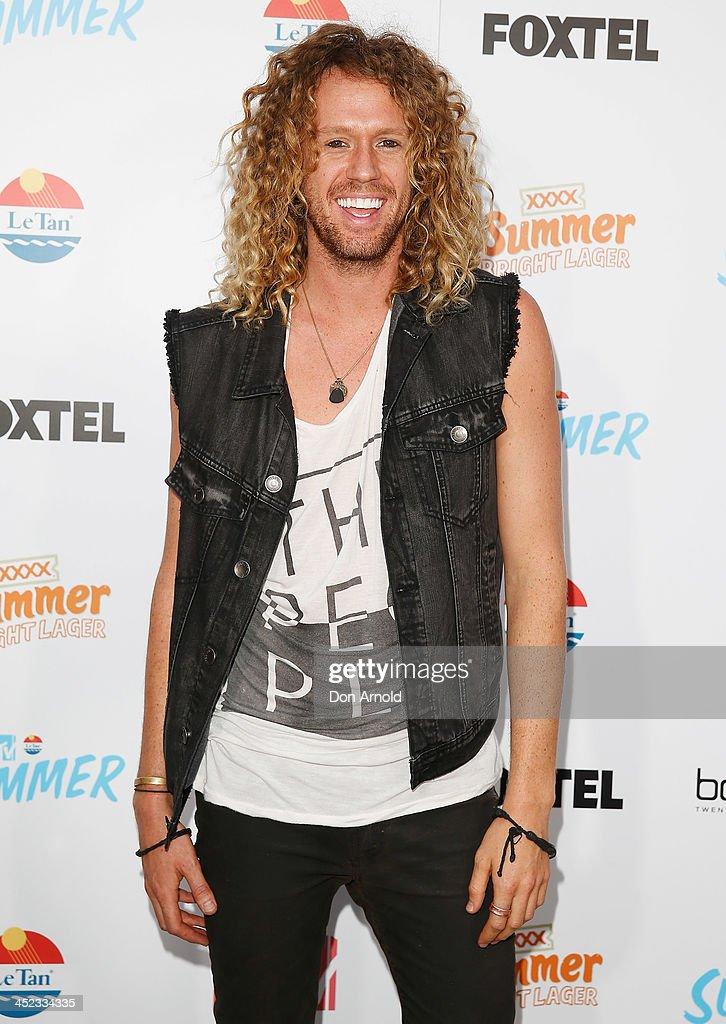Big Brother winner Tim Dormer poses at MTV Summer at Sydney Town Hall on November 28, 2013 in Sydney, Australia.