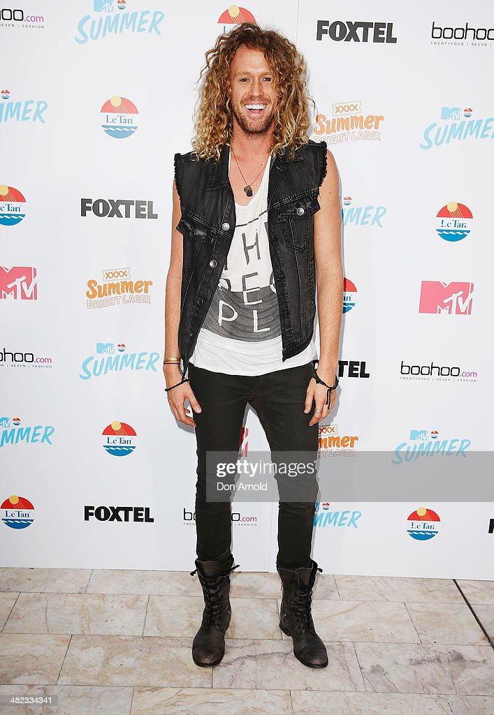 Big Brother winner Tim Dormer poses at MTV Summer at Sydney Town Hall on November 28, 2013 in Sydney, Australia.