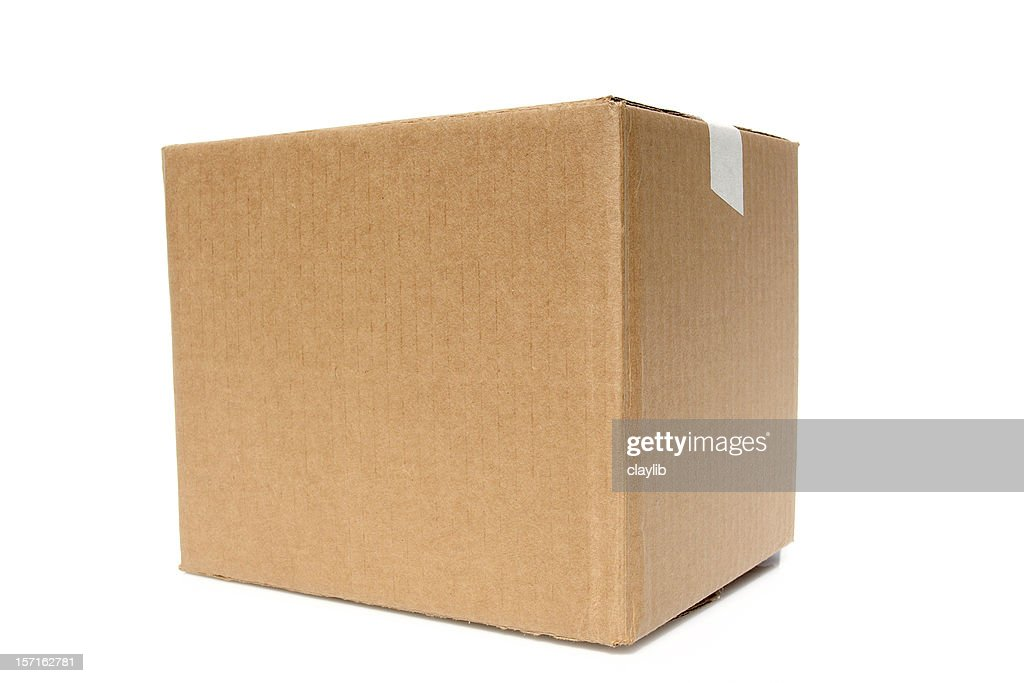 Big Brown Box ready to be stamped