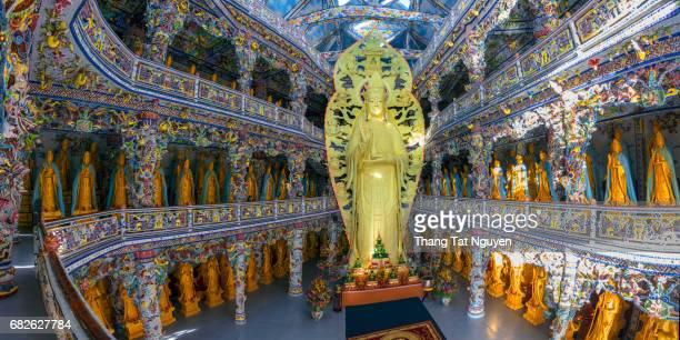 Big budda in Linh Phuoc Pagoda, Dalat, Vietnam