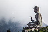 Tian Tan Buddha, also known as the Big Buddha. Hong Kong, China.