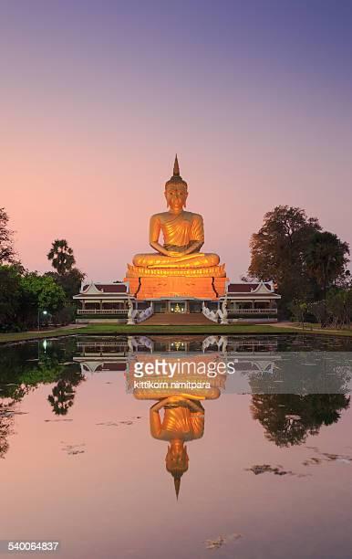 Big Buddha statue with reflection ,Thailand