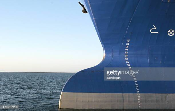 Big Bulbous Bow of OIl Tanker